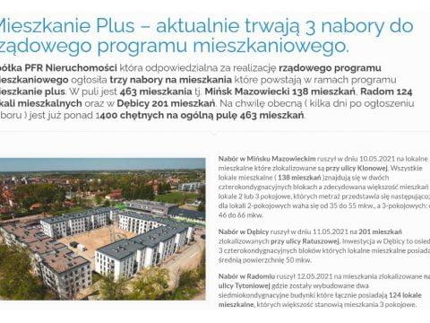 Mieszkanie Plus – aktualnie trwają 3 nabory do rządowego programu mieszkaniowego