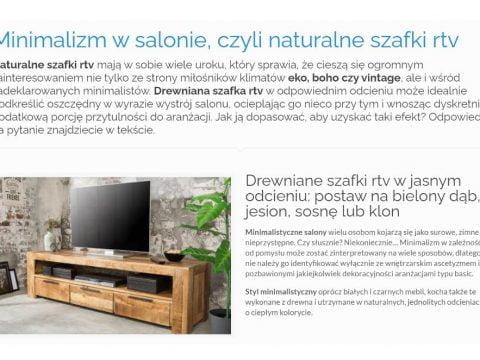 Minimalizm w salonie, czyli naturalne szafki rtv