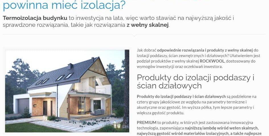 Ocieplasz dom wełną skalną – jaką grubość powinna mieć izolacja