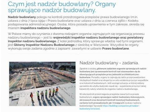 Czym jest nadzór budowlany - Organy sprawujące nadzór budowlany