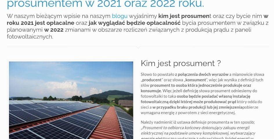 Kto to jest prosument - Czy opłaca się być prosumentem w 2021 oraz 2022 roku