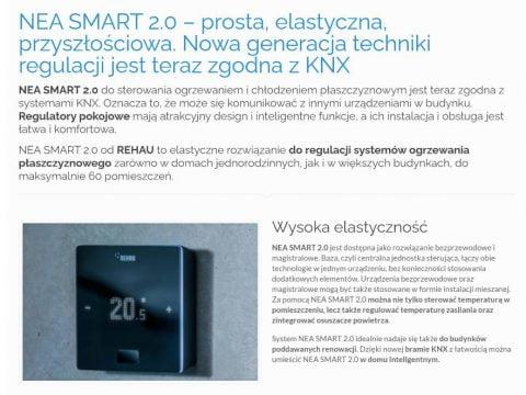 NEA SMART 2.0 – prosta, elastyczna, przyszłościowa. Nowa generacja techniki regulacji jest teraz zgodna z KNX