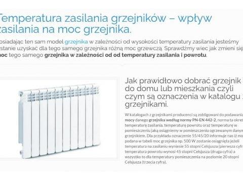 Temperatura zasilania grzejników – wpływ zasilania na moc grzejnika