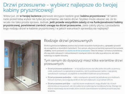 Drzwi przesuwne - wybierz najlepsze do twojej kabiny prysznicowej