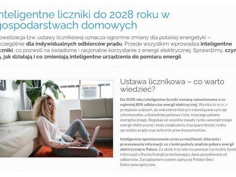 Inteligentne liczniki do 2028 roku w gospodarstwach domowych