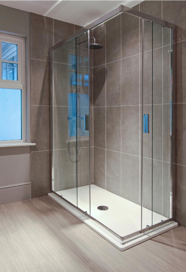 Łazienka, kabina prysznicowa, drzwi przesuwne