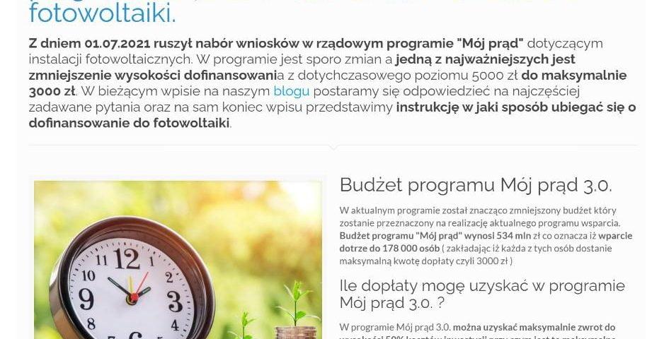 Mój prąd 3.0. - ruszył nabór wniosków w programie, będzie niższe dofinansowanie do fotowoltaiki