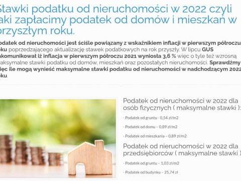 Stawki podatku od nieruchomości w 2022 czyli jaki zapłacimy podatek od domów i mieszkań w przyszłym roku