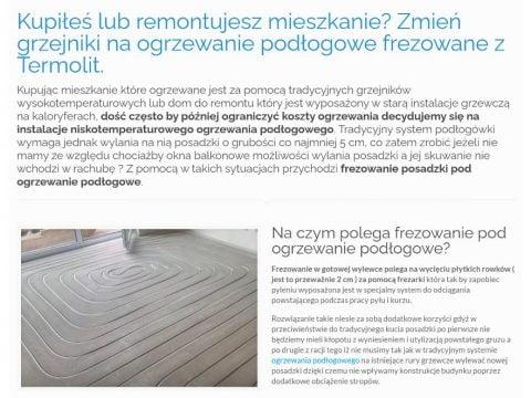 Kupiłeś lub remontujesz mieszkanie - Zmień grzejniki na ogrzewanie podłogowe frezowane z Termolit