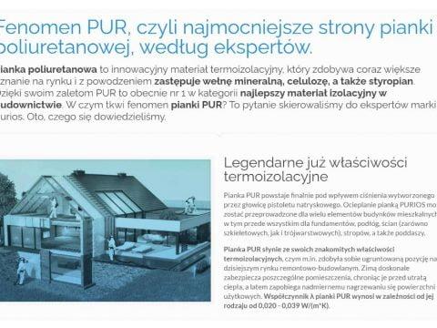 Fenomen PUR, czyli najmocniejsze strony pianki poliuretanowej, według ekspertów