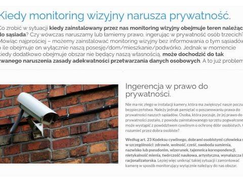 Kiedy monitoring wizyjny narusza prywatność